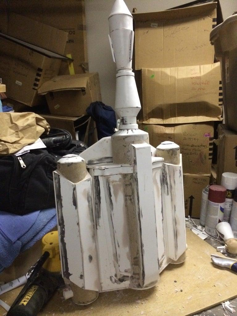 Filling and Sanding the Boba Fett Jetpack