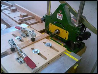 Cutting the Mortises in the Aprons, Drawer Dividers, Rails & Stretchers