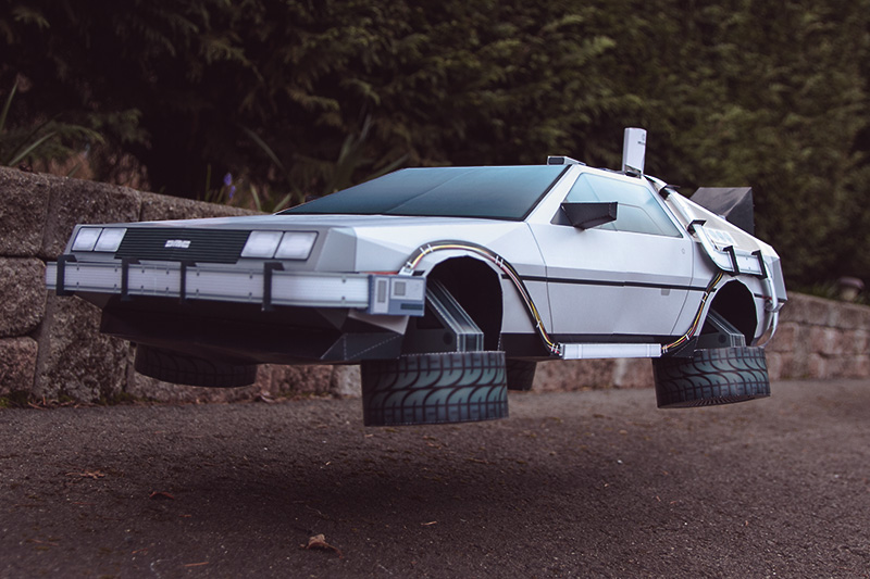 DeLorean BTTF Inspired Papercraft