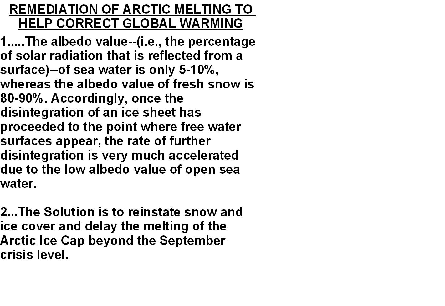 HOW TO COMBAT GLOBAL WARMING IN THE ARCTIC