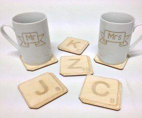 Scrabble Tile Drink Coasters