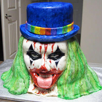 Amazing Evil Clown Cake