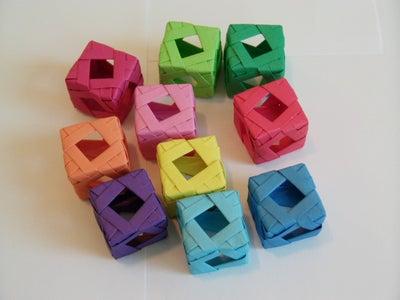 Diamond Window Cube (Modular Origami)