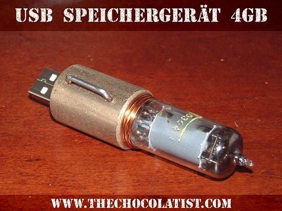 """Steampunk USB Stick """"Speichergeraet Nummer 1"""""""