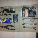 The Expat bike tools cardboard box