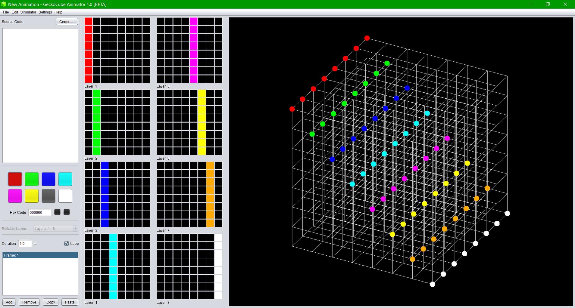 LED Cube Simulation Software