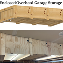 Enclosed Overhead Garage Storage