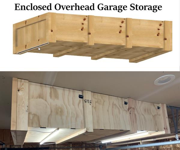 Enclosed Overhead Garage Storage