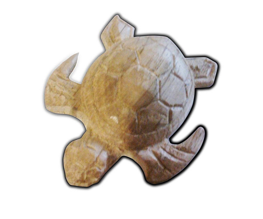 Easy Carved wooden turtle DIY