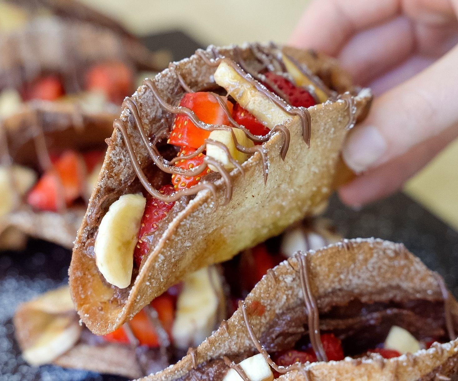 Dessert Nutella Tacos