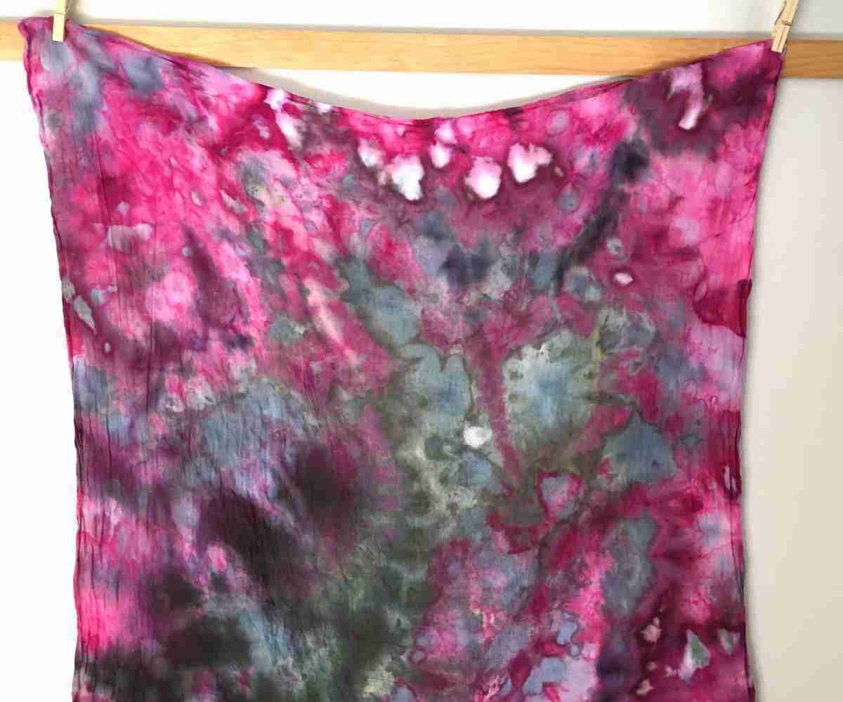Easy Ice Dyeing on Cotton Fabric
