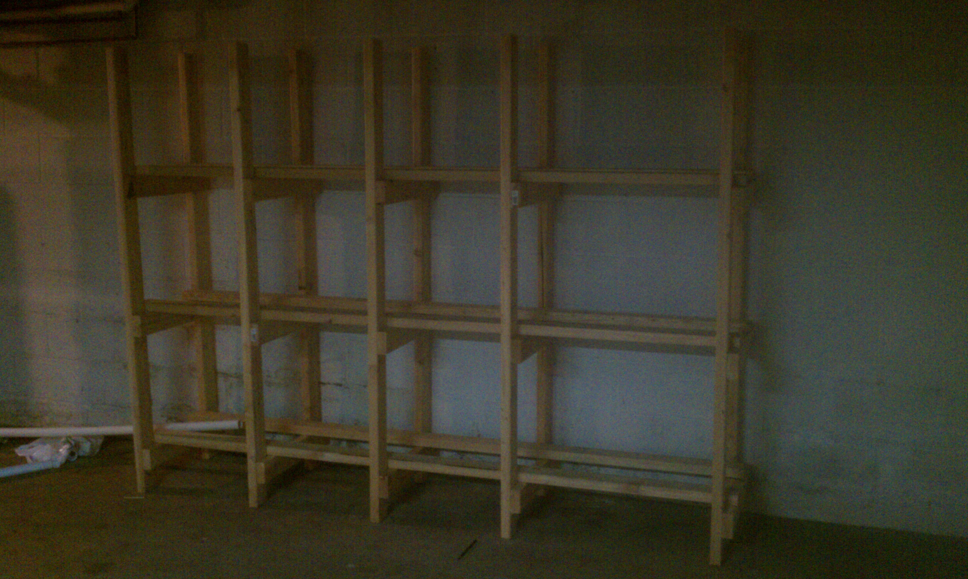Bin storage shelving (the easy way)