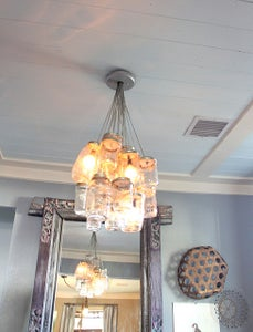 How to Make a Chandelier Using Mason Jars