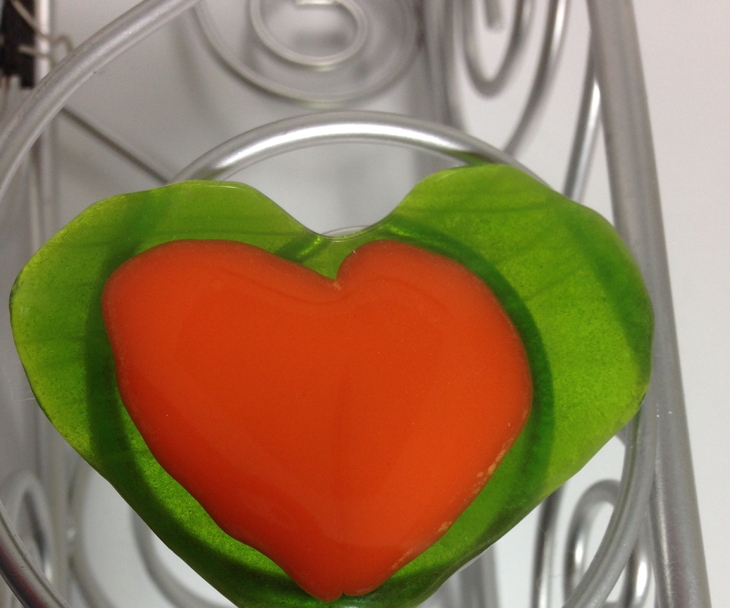 How to Make a 2 Layered Fused Glass Heart in a Microwave Kiln...