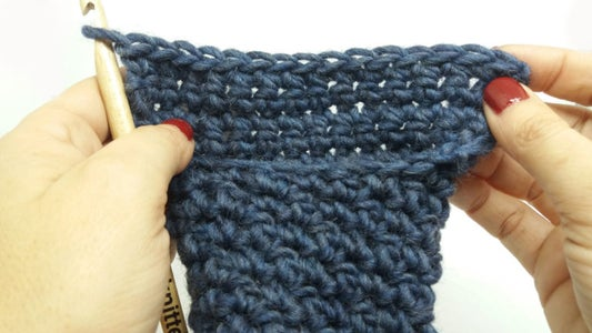 Now We Will Work the Heel. to Do So, Work Rows 17 to 28 in Single Crochet As Follows:
