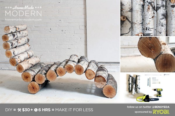 HomeMade Modern DIY Log Lounger