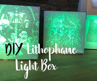 Decorative Lithophane Light Boxes