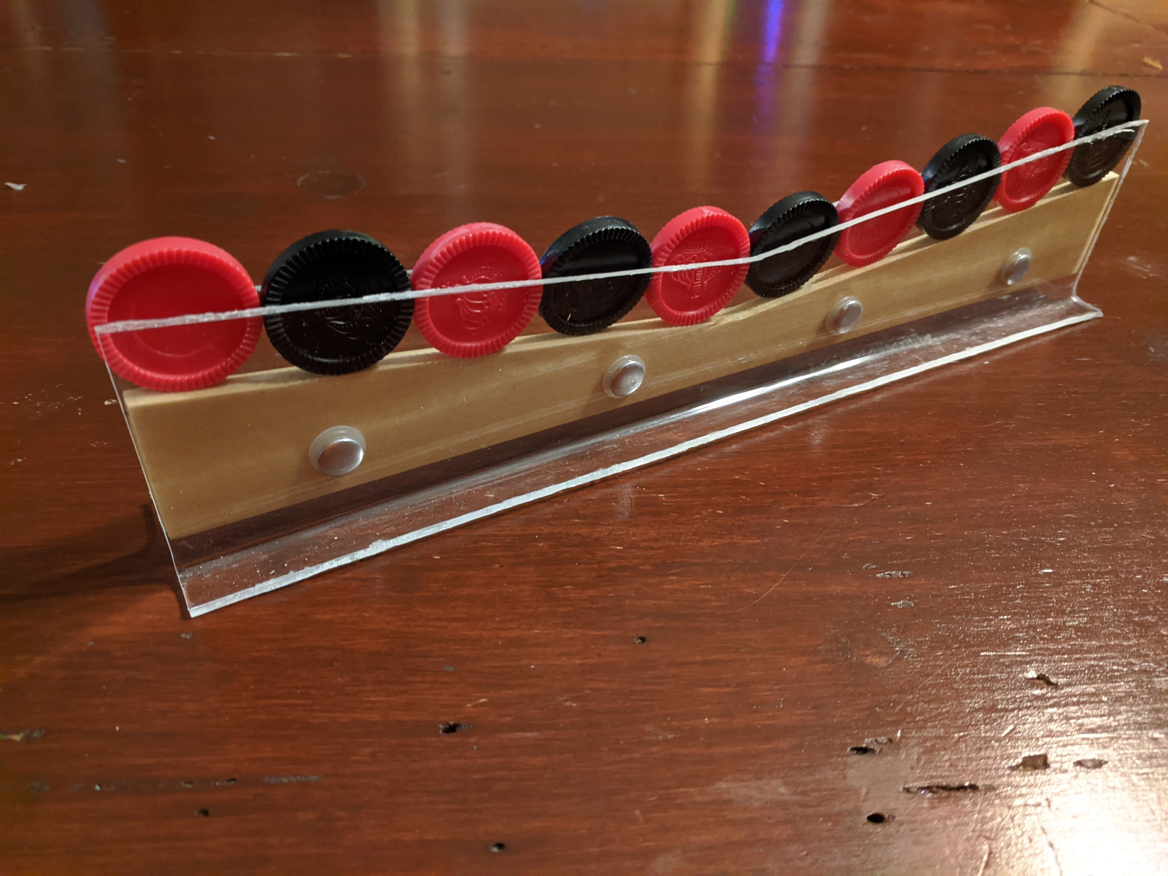 One-dimensional Connect Four