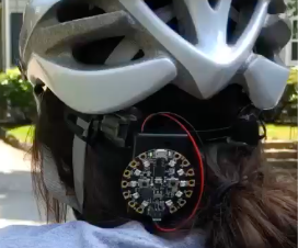 Safety First Helmet With Circuit Playground Express