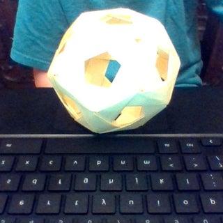 Modular Origami Dodecahedron (30 Units)