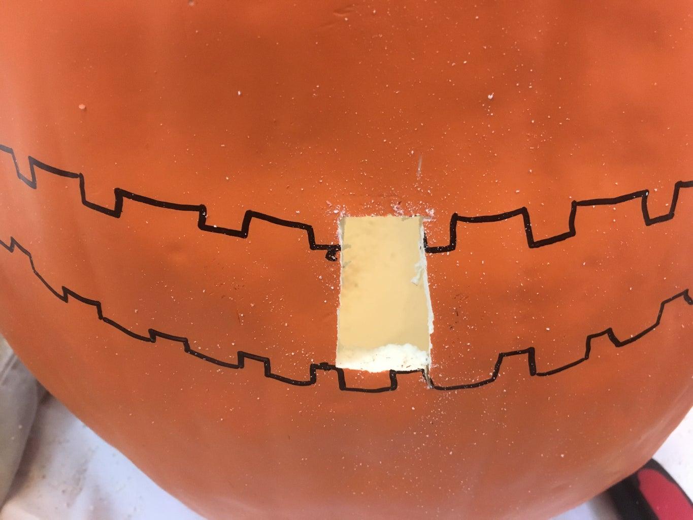 Carving Foam Pumpkins - Carving Small Details