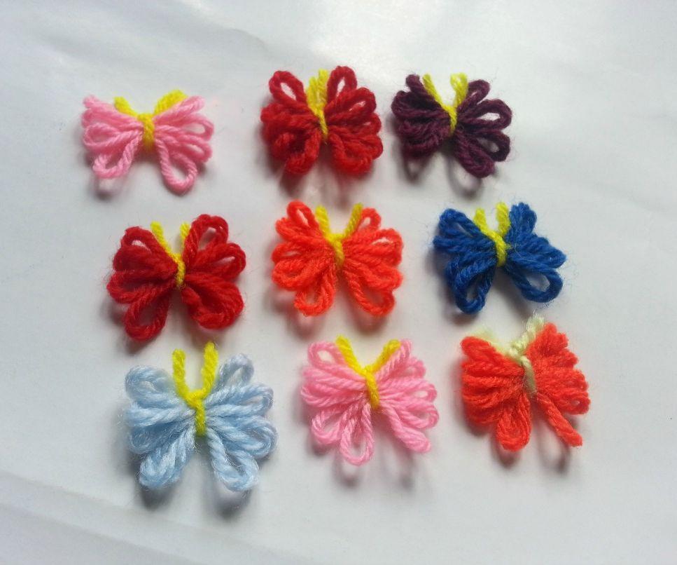 DIY Cute Yarn Butterflies