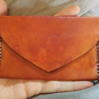 How to Saddle Stitch Leather