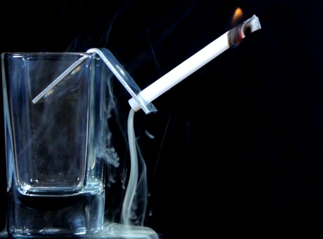 Make a Smoke Waterfall With a Sticky Note