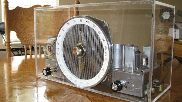 Custom Acrylic Tube Radio