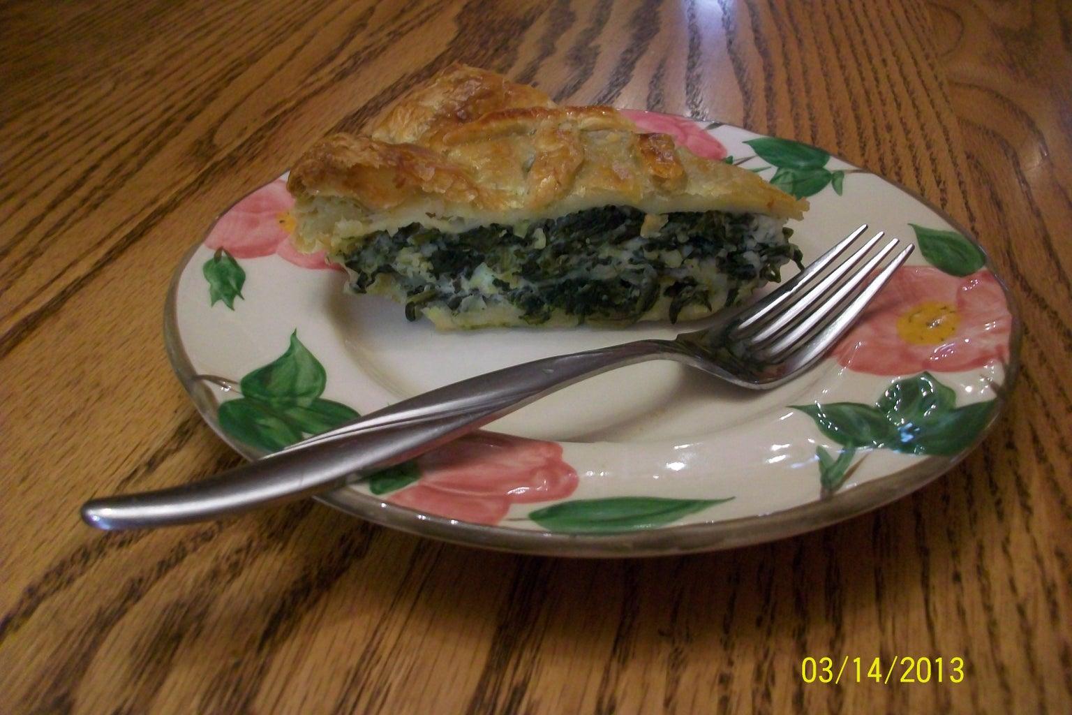 Delicious Serving of Spanako(Pi)ta.