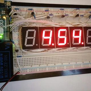 TimeDuino- 7 Segment Arduino Clock (No Shift Registers Needed!)