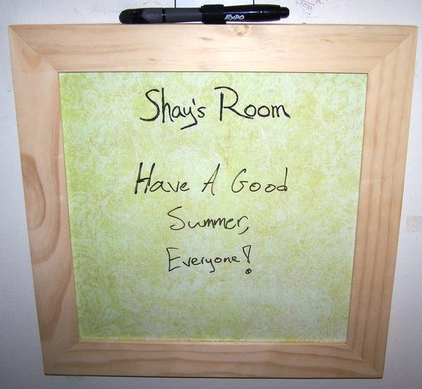 Customizable 12x12 Dry-Erase Board
