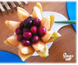 How to Carve a Melon Flower Basket