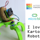 "Tinkercad + Micro:bit Robotics for School: ""I Love Kartof"" Robot!"
