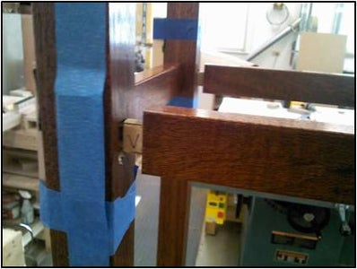 Gluing Center and Side Assemblies Together