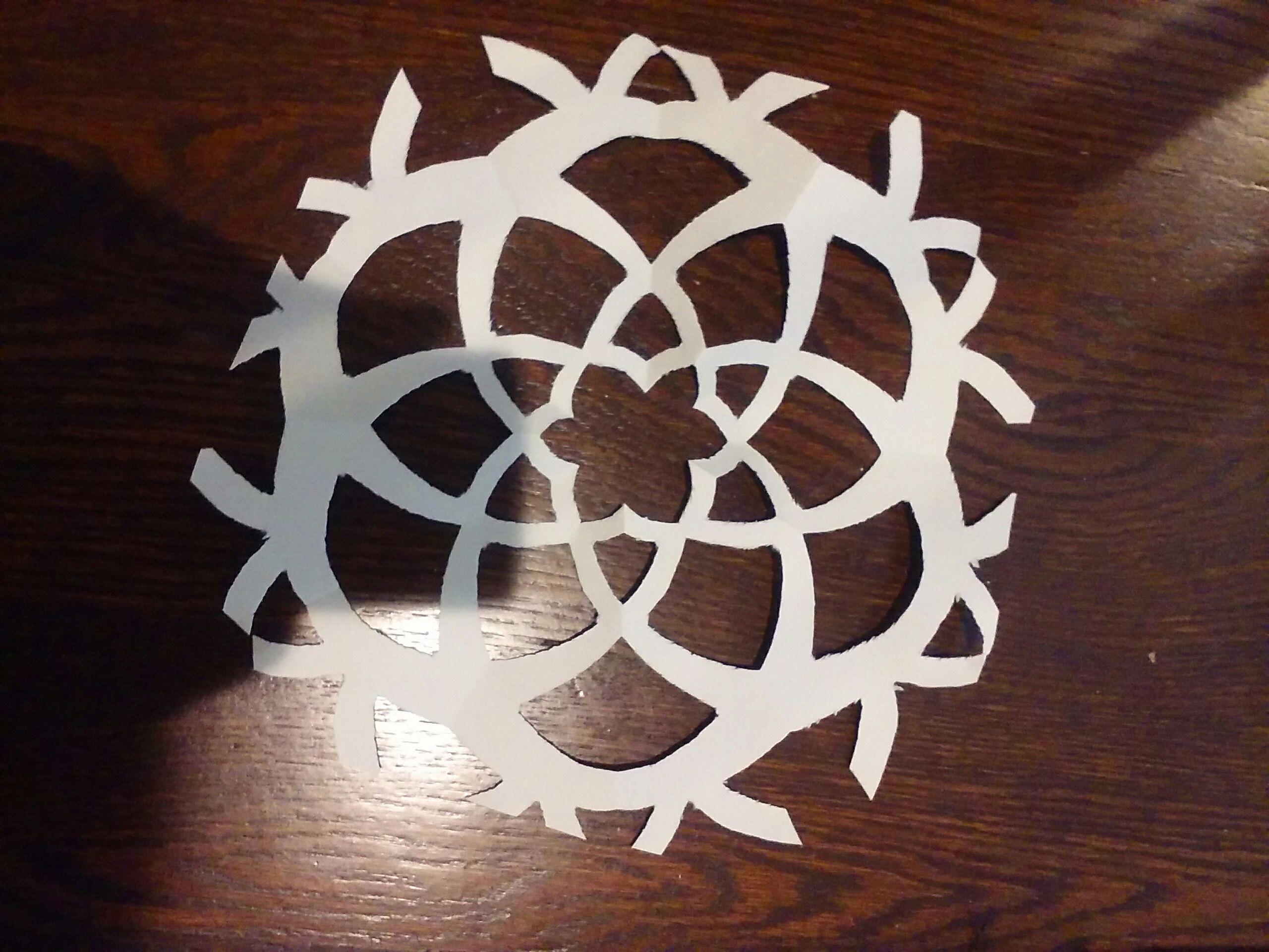 DIY Flower Snowflake