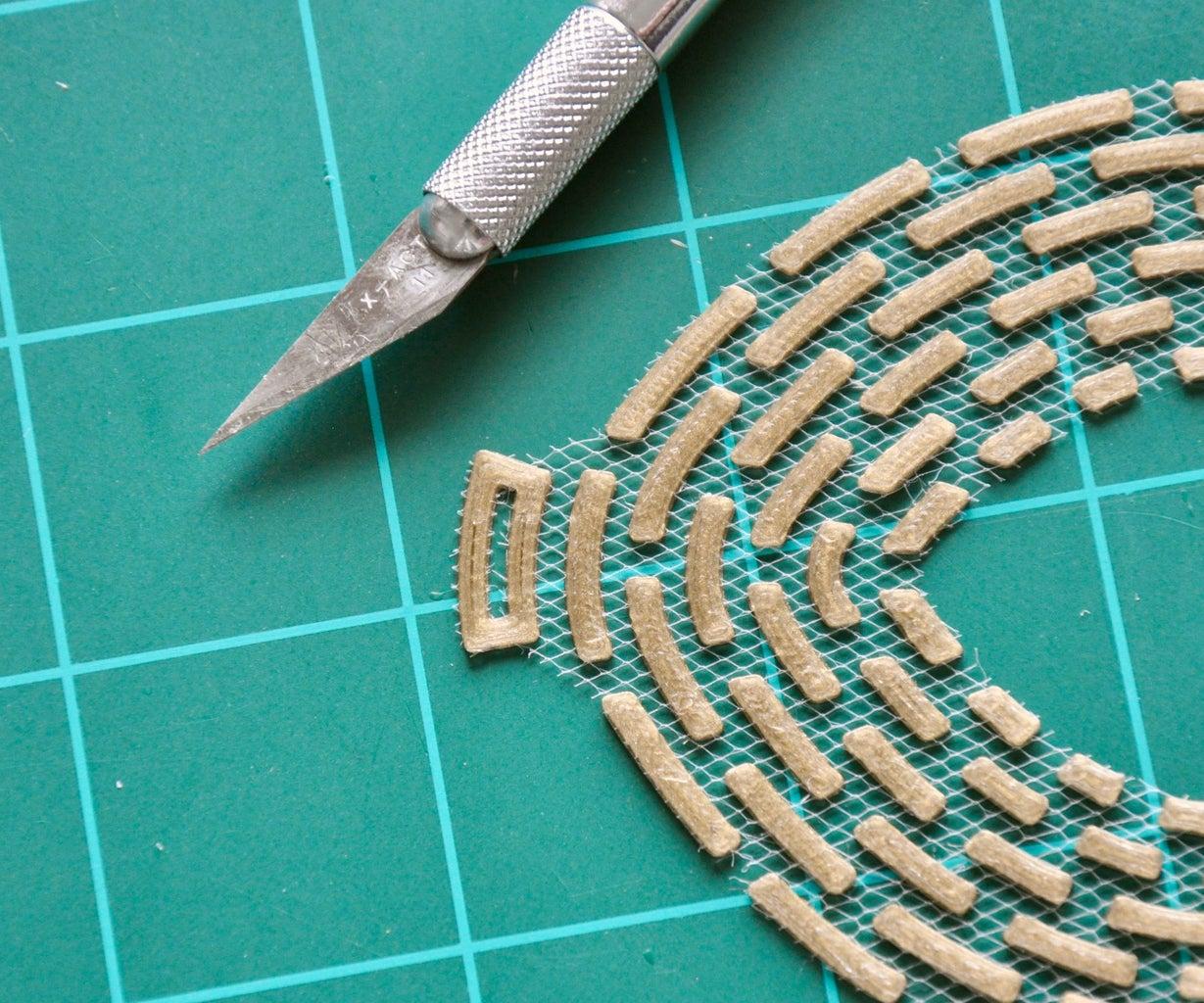Cut Out Mask and Add Ribbon
