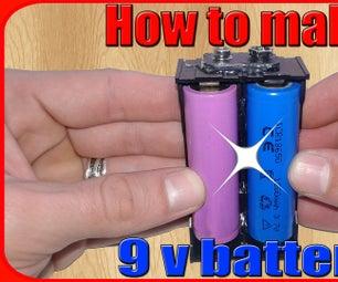 How to Make 9v Battery Pack Using 18650