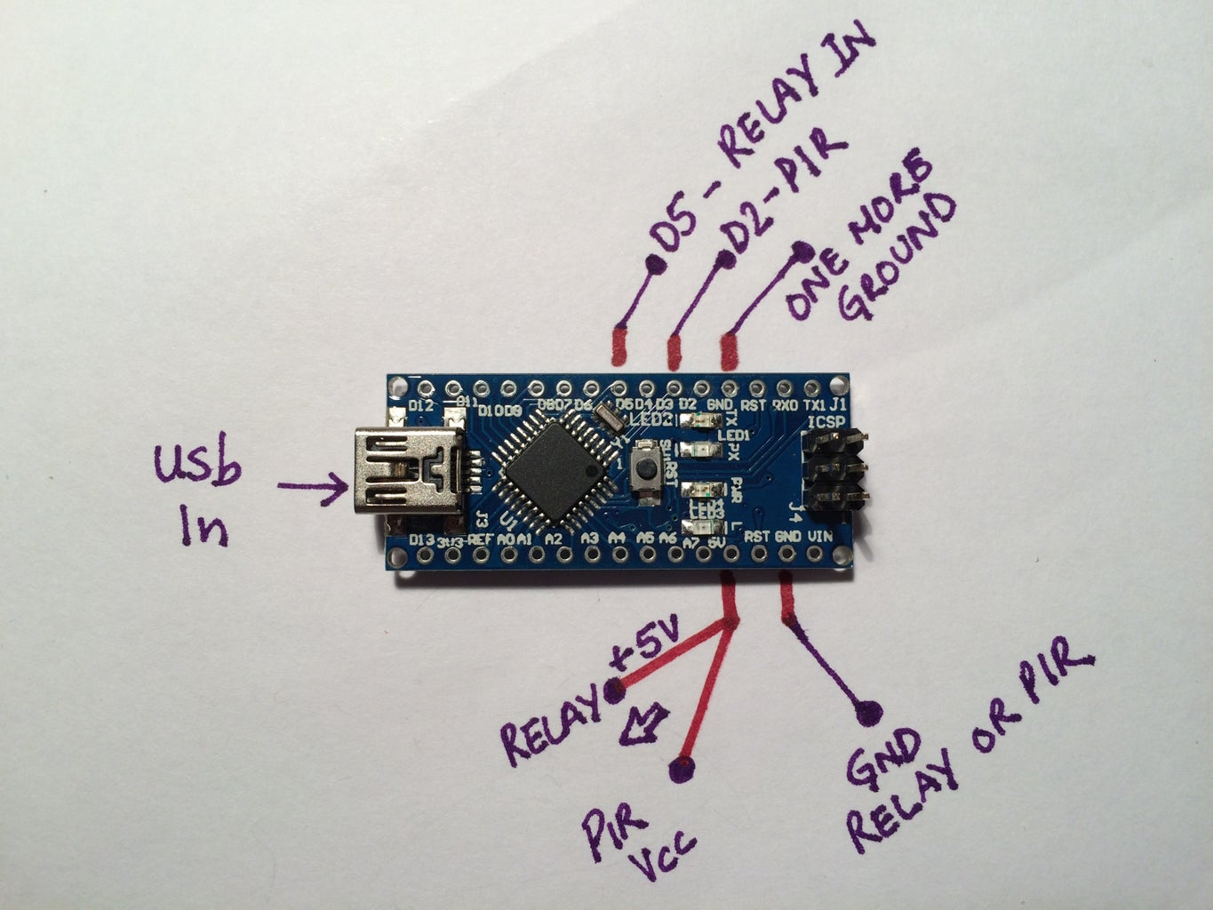 Connect Relay Board to Arduino