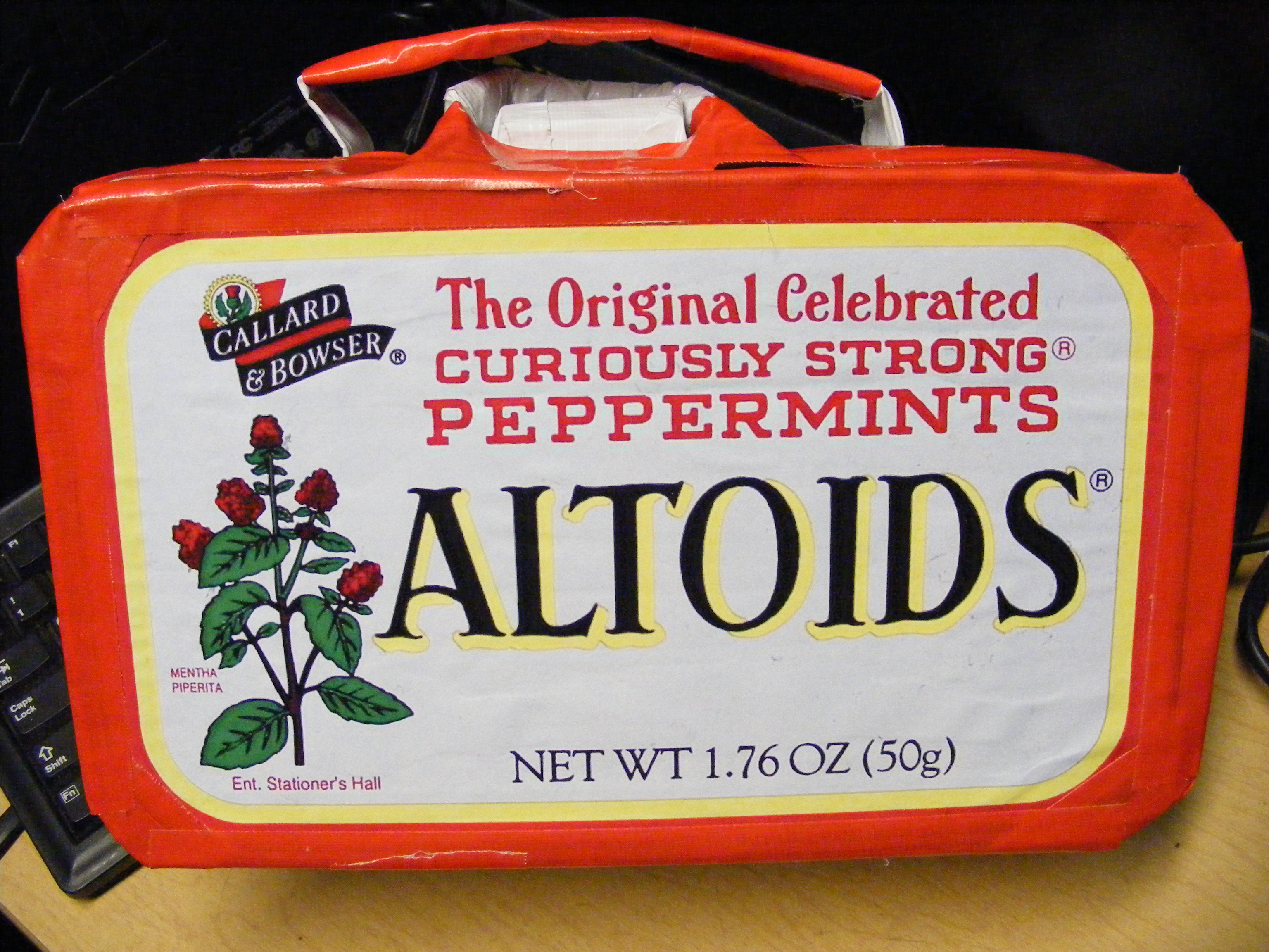 bumpus' Giant Altoids Subway turkey sammich holder (Giant Altoids Tin Lunchbox)