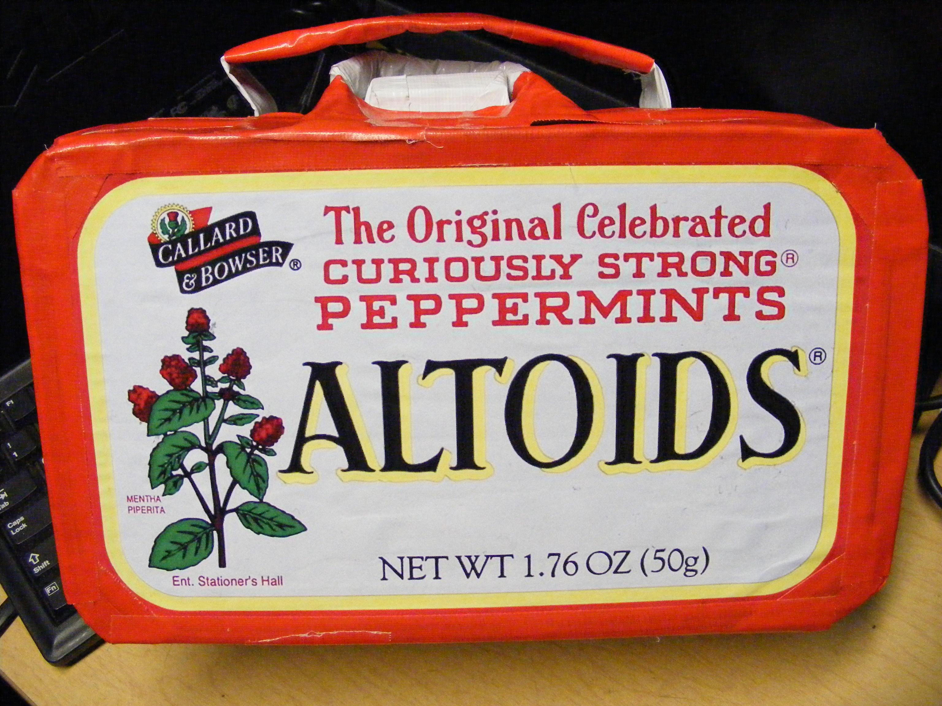 bumpus' Giant Altoids Subway turkey sammich holder (Giant Altoids Tin Lunchbox)