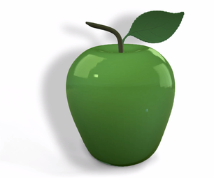 Glass Apple Created in SelfCAD