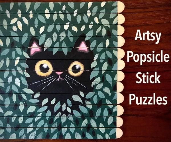 Artist's Popsicle Stick Puzzle