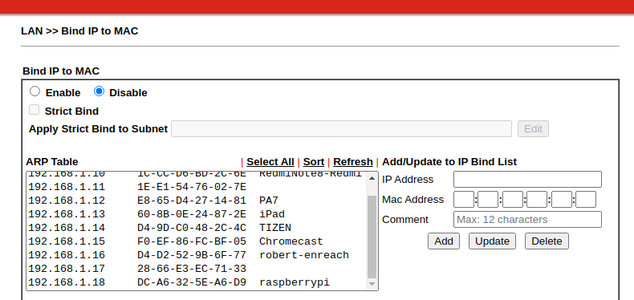 Connect to the Network, Find the IP Address and Setup DHCP Binding.