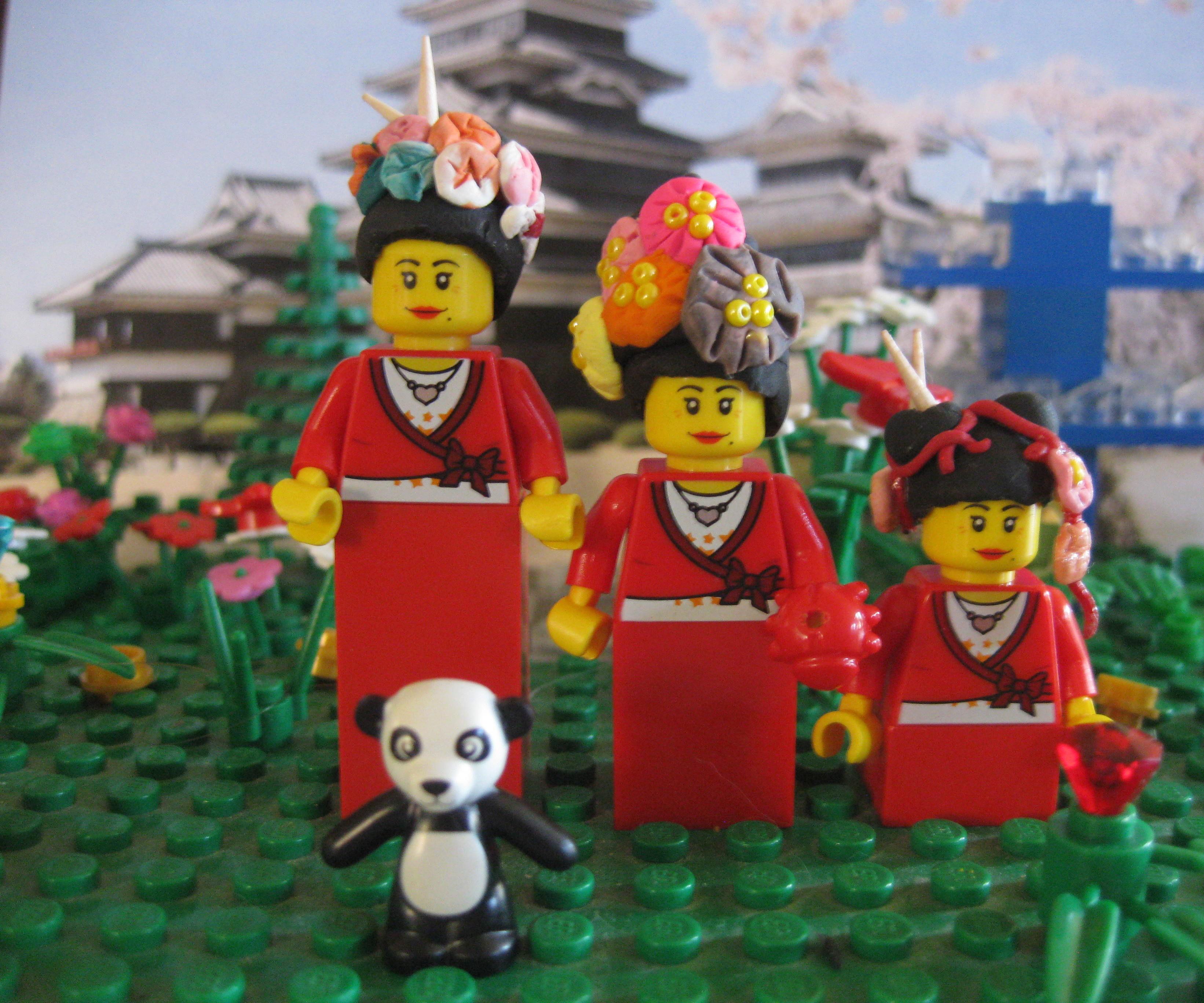 LEGO Mini Figure Hair
