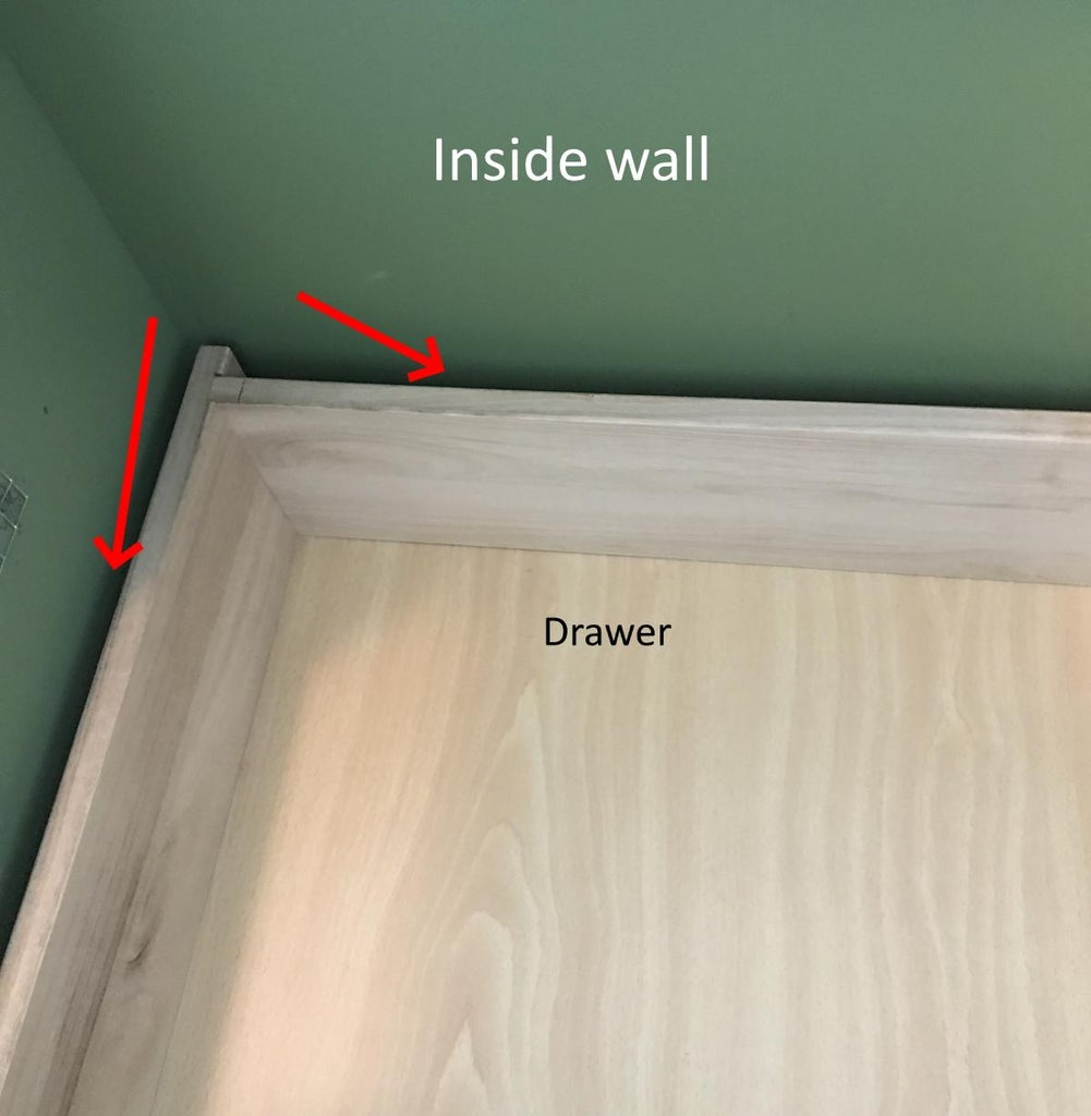 Added Wood to Cover the Gap Between the Drawer and the Inside Walls.