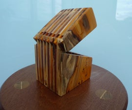 Scrap Wooden Hinged Box