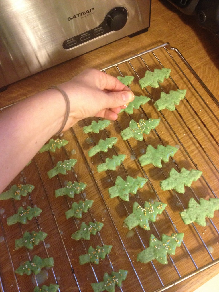 Prepare the Icing and Decorate the Trees
