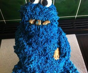 Huge Cookie Monster Cake
