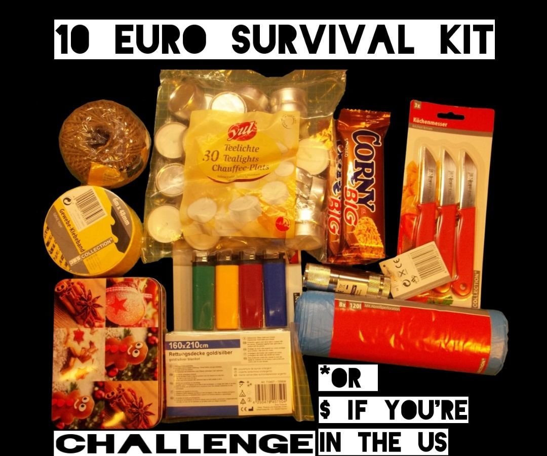 10 Euro Survival Kit (Challenge)